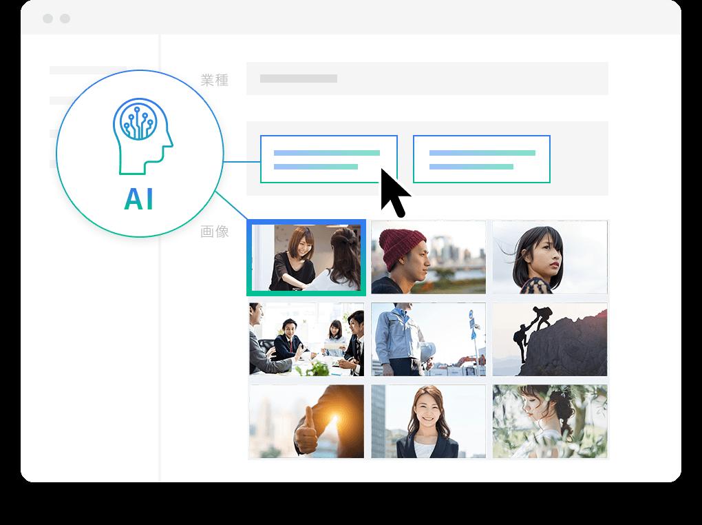 AI(人工知能)による入力補助機能イメージ